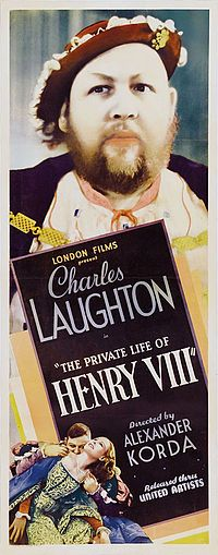 The Private Life of Henry VIII is a 1933 British historical comedy film directed by Hungarian Director-Producer Alexander Korda and starring Charles Laughton, Robert Donat, Merle Oberon and Elsa Lanchester. The film focuses on the reign of Henry VIII, King of England, and his various marriages. It was written by Lajos Biró and Arthur Wimperis for London Film Productions. The film was a major international success, establishing Korda as a leading filmmaker and Laughton as a box office star.