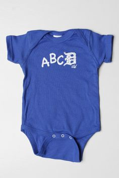 ABCD Onesie - Royal Blue by INK Detroit | Ink Detroit