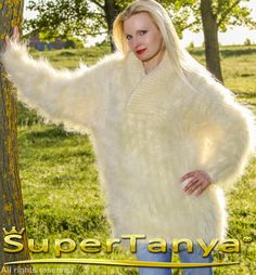 ******************************************************************************  THICK AND FUZZY HAND KNITTED MOHAIR SWEATER by SuperTanya  ******************************************************* Product Description:  This brand new SuperTanya's hand knitted fluffy mohair creation is handmade from premium class soft and luxurious mohair yarn. The mohair, together with cashmere, alpaca and angora is one of the world's most loved materials for making one of a kind, soft sweaters, cardigans and…