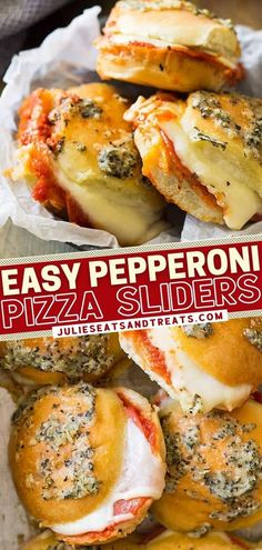 One of the best sandwiches you will ever have! Stuffed with gooey cheese and pepperoni then smothered with butter sauce, these pizza sliders are exploding with flavor. Enjoy this easy game day food as… More