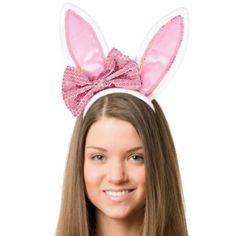 Bow Bunny Ears Headband - Party City