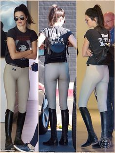 She looked ready for a horse ride. But instead Kendall Jenner indulged in another one of her favourite pastimes on Tuesday as she headed for a shopping trip in Los Angeles dressed in an equestrian style ensemble. The 20-year-old model showed off her svelte figure in a pair of super tight jodhpurs teamed with a vintage band t-shirt as she hit a photography store and gallery.