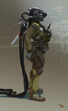 Joe Peterson is a Concept Artist based in Aliso Viejo, California who created the awesome Sci-Fi characters.