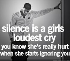 Silence. So true.