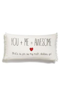 Levtex 'You + Me = Awesome' Accent Pillow available at #Nordstrom