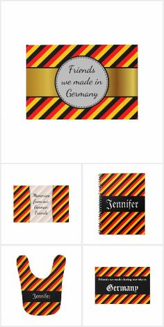 Designs inspired by the colors of the national flag of Germany. National Flag, Germany, Design Inspiration, Cards, Color, Layout Inspiration, Colour, Flags, Maps