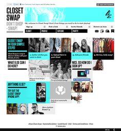 Closet Swap for Channel 4 by Alex Townsend, via Behance
