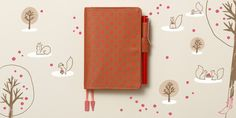 One of my favourites: Faux Fabric Polka Dot - Hobonichi Planner 2014