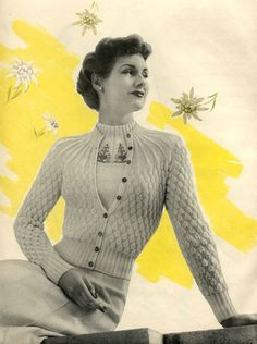 The Vintage Pattern Files: 1950's Knitting - Summer Twin Set
