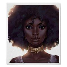 Black Girl Art, Black Women Art, Black Girls Rock, Black Girl Magic, Art Girl, Natural Hair Art, Natural Hair Styles, Natural Beauty, Art Afro Au Naturel