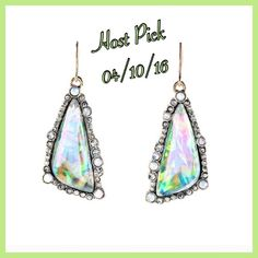 🎉HP🎉Gorgeous Iridescent Drop Earrings Gorgeous Iridescent Drop Earrings Jewelry Earrings