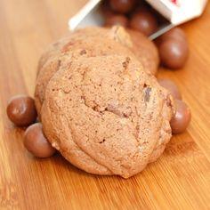 Malt and malt balls cookies