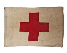 Vintage Red Cross Flag / via @VandM.com.com.com.com