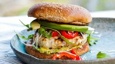 Red Chile and Cheese Stuffed Turkey Burgers : Season turkey meat with salt, pepper, chili powder and onion powder and mix together well.…