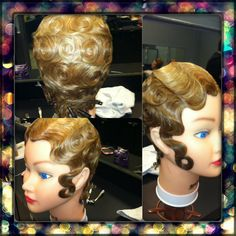 Finger waves and pin curls. Finger Waves, Pin Curls, Hair Makeup, Inspirational Quotes, Crown, Board, How To Wear, Beauty, Fashion