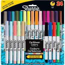 Sharpie Permanent Ultra-Fine Point Markers, Assorted, Pack of 24 Arte Sharpie, Sharpie Crafts, Sharpie Markers, Sharpies, Tape Crafts, Sharpie Colors, School Suplies, Cute School Supplies, Friends Set