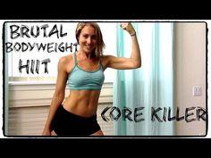 Brutal Bodyweight HIIT | Core Killer - YouTube