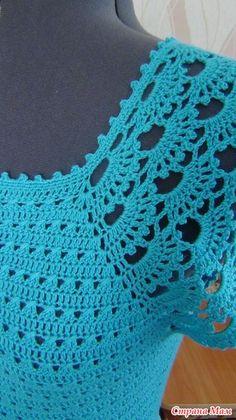 Discover thousands of images about Fotka Débardeurs Au Crochet, Fillet Crochet, Crochet Lace Edging, Crochet Woman, Crochet Cardigan, Crochet Stitches, Crochet Designs, Crochet Fashion