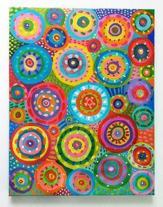 Cercles de la peinture abstraite / Original abstrait par tushtush
