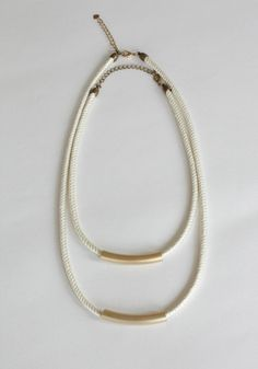 BRONZE PARALLEL NECKLACE by solis jewelry