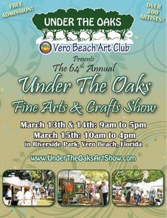 in march the vero beach art club hosts a huge art show On crafts and stuff vero beach