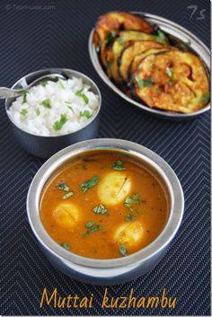 7aum Suvai: Muttai kuzhambu / Egg curry