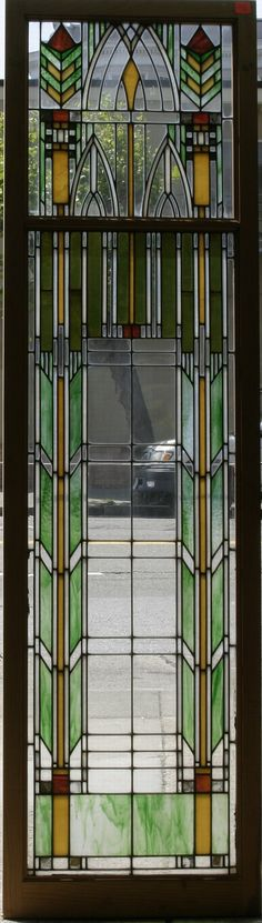 Mission/Craftsman style window, I can imagine the beautiful light this would produce