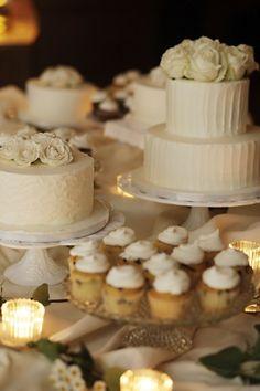 mesas de postres y tortas de bodas