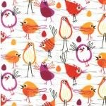 ROBIN IN THE HOOD on cotton flannel
