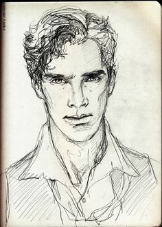 Benedict Sketch Love the 'effortless' style. Very energetic