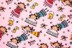 Baumwolle Alles Gute Zum Geburtstag Rosa  Preis: € 5,00 pro Meter. Produkt code: 4783250