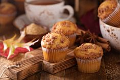 Seasonal cinnamon streusel muffins with tea in a rustic setting , Homemade Pumpkin Pie, Canned Pumpkin, Pumpkin Pie Spice, Pumpkin Puree, Cinnamon Streusel Muffins, Pie Spice Recipe, Fall Treats, Cinnamon Apples, Fall Recipes