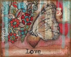 10x8 Love Always Print of the Original on wood by ShawnPetite, $20.00