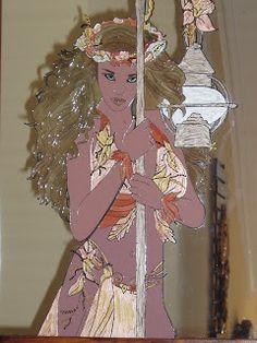 Casiopea: espejos pintados a mano
