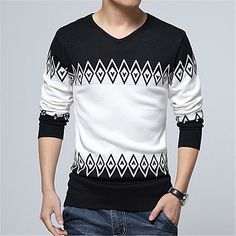 Nisexper Hot New Knitted Sweater Men Casual Fashion Slim Men's Sweater V-neck Lo. Nisexper Hot New Knitted Sweater Men Casual Fashion Slim Men's Sweater V-neck Long Sleeve Pullovers Mens Clothing Size X. Sweater Shirt, Men Sweater, Gents Shirts, Mens Fashion Quotes, Mens Shirts Online, Shirt Sleeves, Men Casual, Long Sleeve, Renewable Energy