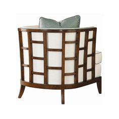Ocean Club Exposed Grid Pattern Wood Abaco Chair by Tommy Bahama Home... ❤ liked on Polyvore featuring home, furniture, chairs, accent chairs, tommy bahama, wooden furniture, wooden chairs, colored furniture and timber furniture