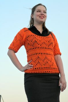 Hand Knit Catalina Beach Sweater - pinned by pin4etsy.com