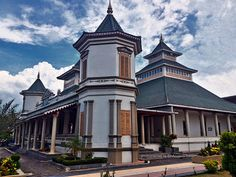 Manonjaya Great Mosque is one of the famous mosque in Tasikmalaya - West Java .    Front facade of Manonjaya Great Mosque.   Manonjaya Gre...