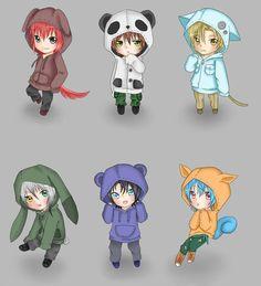 Castiel,Ken,Nathaniel,Lysandre,Armin,Alexy Amor Doce <3 Chibi