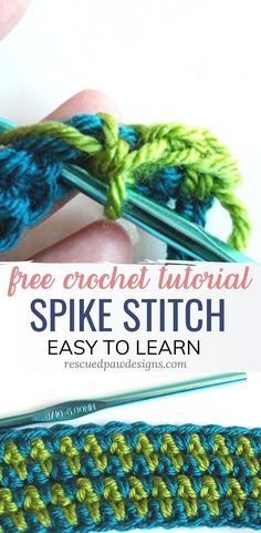 Spike Stitch Crochet Tutorial Learn how to make the Spike Stitch in Crochet with the free crochet stitch pattern & tutorial. Use the Spike Stitch for crochet afghans & baby blankets! Crochet Afghans, Easy Crochet Blanket, Crochet Stitches Patterns, Stitch Patterns, Chevron Blanket, Crochet Stitches For Blankets, Different Crochet Stitches, Knitting Patterns, Crochet Gratis