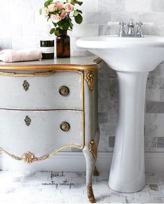 Friday Favorites Beautiful French Vintage Style Furniture   Chippy Gorgeous  Gray Blues With A Delicate Touch Of Gilding? Well, You Know That Delightful  ...