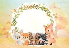 Poster Background Design, Background Patterns, Baby Shower Tags, Baby Boy Shower, Woodland Theme, Woodland Party, Animal Drawings, Cute Drawings, Jordan Baby Shower