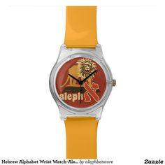 Hebrew Alphabet Wrist Watch-Aleph Wrist Watches