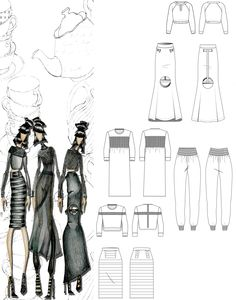 Fashion Sketchbook - fashion illustrations; fashion design drawings; fashion portfolio // Kandice Chavous