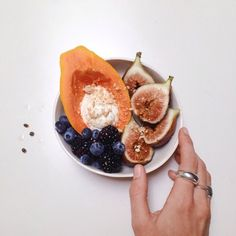 SIMPLE PLEASURES // Summer fruits and silver rings - bliss.