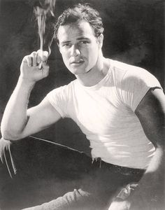 Marlon Brando, Portrait from a Streetcar Named Desire, 1951 People Photo - 30 x 41 cm