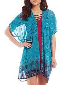 So It Is Border Print Kimono #Dillards