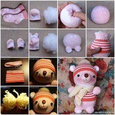 Alte oder einzelne Socken übrig? Mach daraus diese niedlichen Tierfiguren …! - Seite 11 von 11 - DIY Bastelideen
