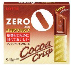 Bagi yang suka nyemil coklat tapi takut sama gula, ini solusinya.  Chocolate Lotte Zero Cocoa Crispy ini tidak menggunakan gula, namun memakai Maltitol (bukan aspartame), sehingga rasanya mendekati manisnya coklat biasa.