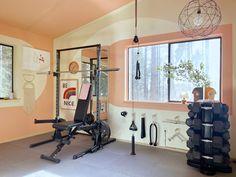 Orlando Soria, Bluebird House, Gym Room, Framed Tv, Gym Essentials, Inspiration Design, Workout Rooms, Vintage Design, Modern Minimalist